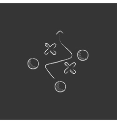 Tactical plan drawn in chalk icon vector