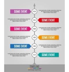 Timeline infographics vertical vector