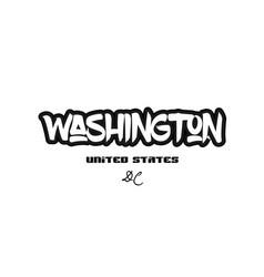 United states washington dc city graffitti font vector