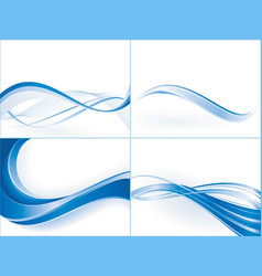 Wave templates vector