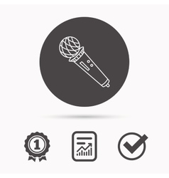 Microphone icon karaoke sign vector