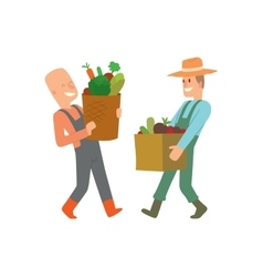 Garden harvest people character vector