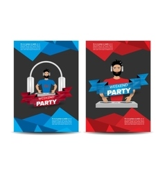 Music party announcement vector