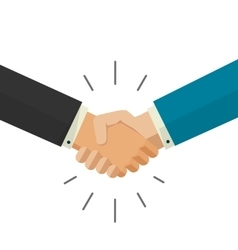 Shaking hands business vector