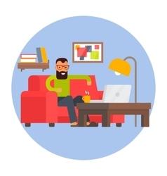 Freelancer home office remote work freelance vector