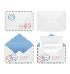 set of mail vector image