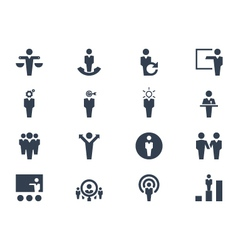 Human resource icons vector