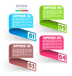Collection of info items vector image