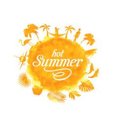 Tropical summer beach party poster design vector