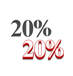 20 discount design vector