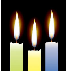 3 candles vector image vector image