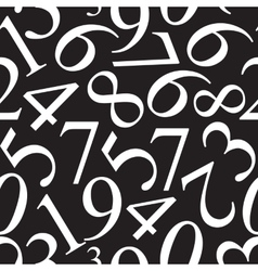 Numbers seamless pattern background vector