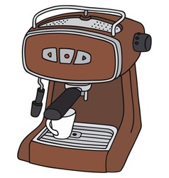 Red electric espresso maker vector