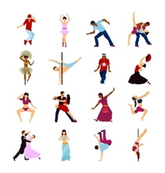 People dancing set vector