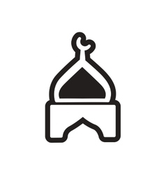 Stylish black and white icon indian temple vector