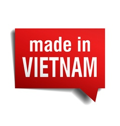 Made in vietnam red 3d realistic speech bubble vector