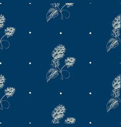 Abstract natural hand drawn seamless pattern vector