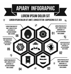 Apiary infographic simple style vector