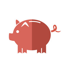 Cartoon piggy money security bank icon vector