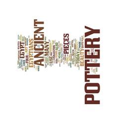 Egyptian pottery ageless beauty text background vector