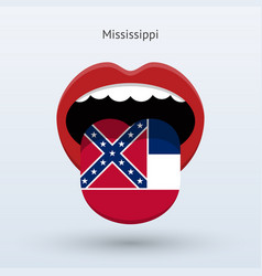 electoral vote of mississippi abstract mouth vector image vector image