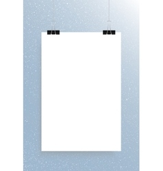 Falling snow mockup white sheet vector