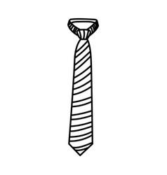 Figure elegan fashion tie icon vector