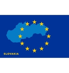 Flag of European Union with Slovakia on background vector image vector image