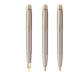 Fountain pen ball pen pencil vector