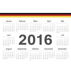 German circle calendar 2016 vector