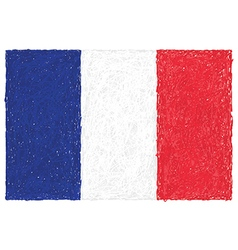 Hand drawn of flag of france vector
