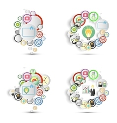 Infographics set with icons for business vector image vector image