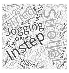 Instep jogging stroller word cloud concept vector
