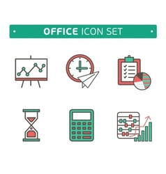 Marketing Strategy Icons Simple glyph style icons vector image