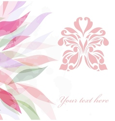 Retro floral butterfly background vector image vector image