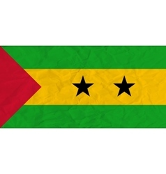 Sao Tome and Principe paper flag vector image