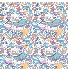 Sea sketch pattern vector image vector image