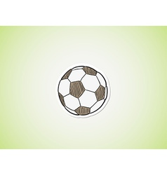 sketch of the football ball vector image