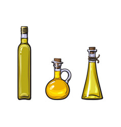 sketch olive oil logo icon set isolated vector image vector image