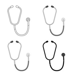 stethoscope icon in cartoon style isolated on vector image vector image