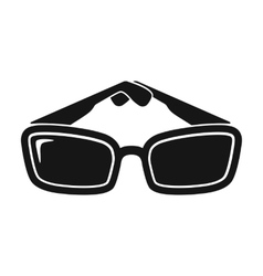 Sunglasses icon in black style isolated on white vector