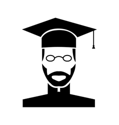 Teacher black icon vector image