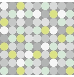 Tile pattern with polka dots on grey background vector image vector image