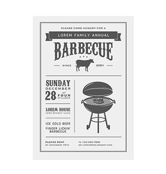 Vintage barbecue invitation vector