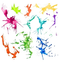 Water Color Splash Stains vector image vector image