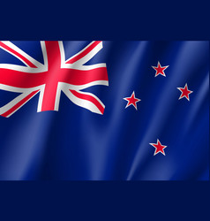 Waving flag of new zealand vector