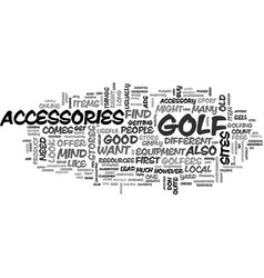 where you can buy useful golf accessories text vector image