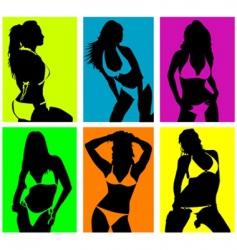women in bikini vector image