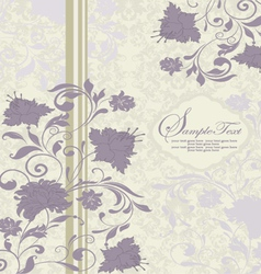 Purple and gray invitation card vector