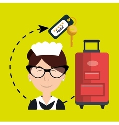Housekeeper maid hotel service vector